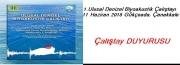 1.Ulusal Denizel Biyoakustik Çalıştayı 11 Haziran 2018 Gökçeada, Çanakkale